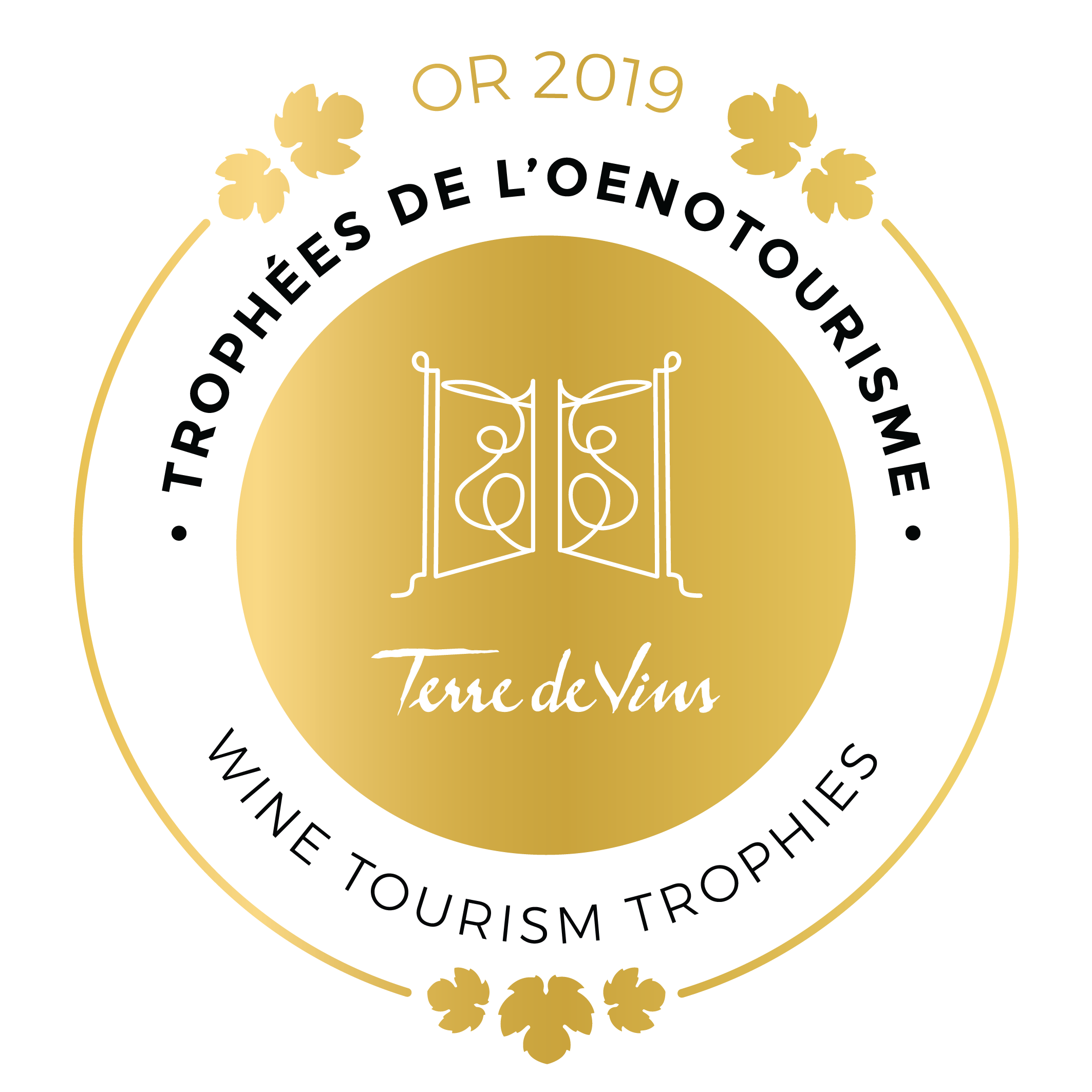 Gold Medal - Wine Tourism Trophies 2019